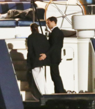 "52037179 Actress Dakota Johnson and Jamie Dornan film scenes on a yacht for ""Fifty Shades Darker"" in Vancouver, Canada on April 27, 2016. FameFlynet, Inc - Beverly Hills, CA, USA - +1 (310) 505-9876"