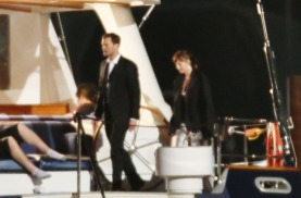 "52037183 Actress Dakota Johnson and Jamie Dornan film scenes on a yacht for ""Fifty Shades Darker"" in Vancouver, Canada on April 27, 2016. FameFlynet, Inc - Beverly Hills, CA, USA - +1 (310) 505-9876"